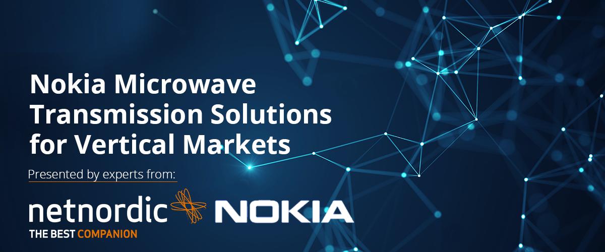 On-demand webinaari: Nokia Mikrolinkki-ratkaisut tutuksi – Nokia Microwave Transmission Solutions for Vertical Markets thumbnail